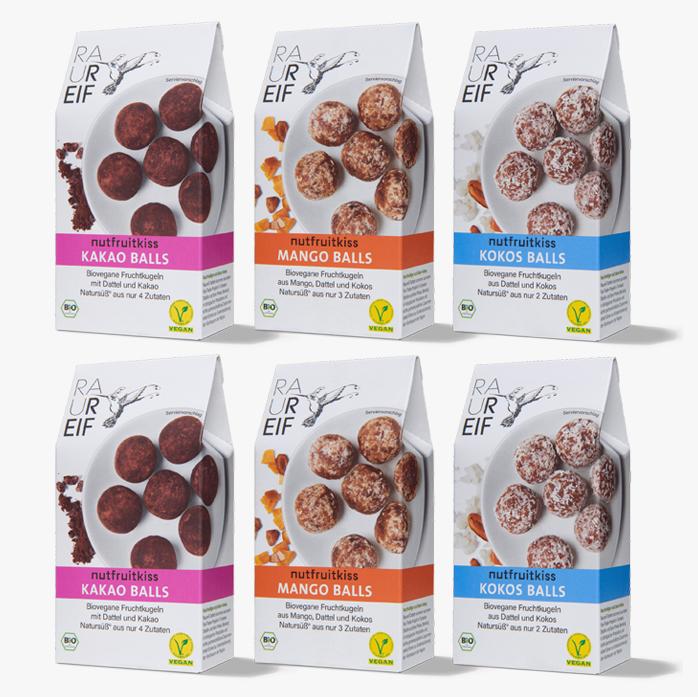Probierbox Energyballs, 6 Verpackungen je 100g