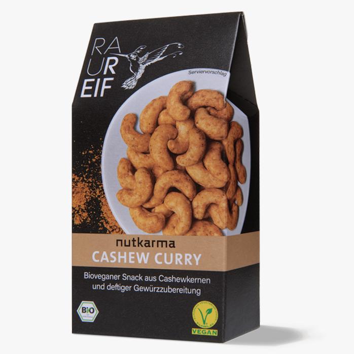 Geröstete Cashewnüsse mit Curry-Gewürzzubereitung