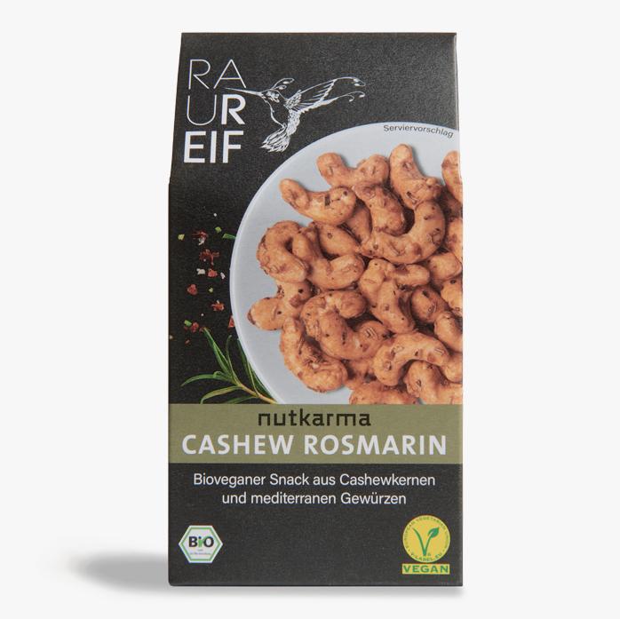 Geröstete Cashewkerne mit Rosmarin und Paprika.