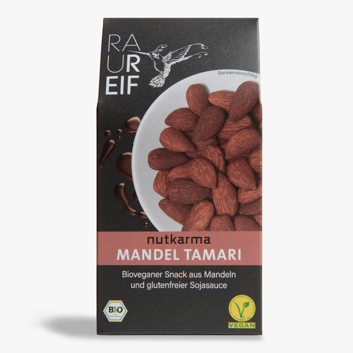 Geröstete Mandeln Tamari Nutkarma 100g Box